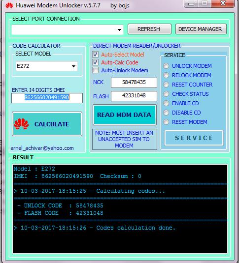 logiciel decodage modem huawei