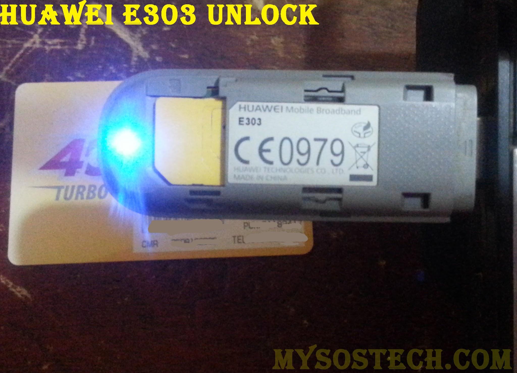debloquer huawei E303 modem 3g - My Sos Tech