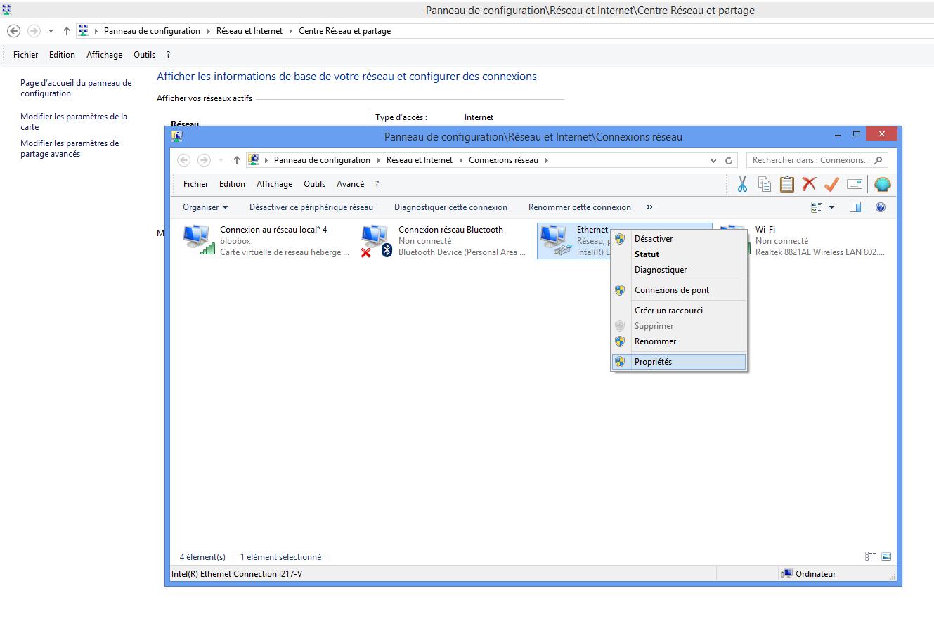 Comment faire un partage de connexion sur Windows 2