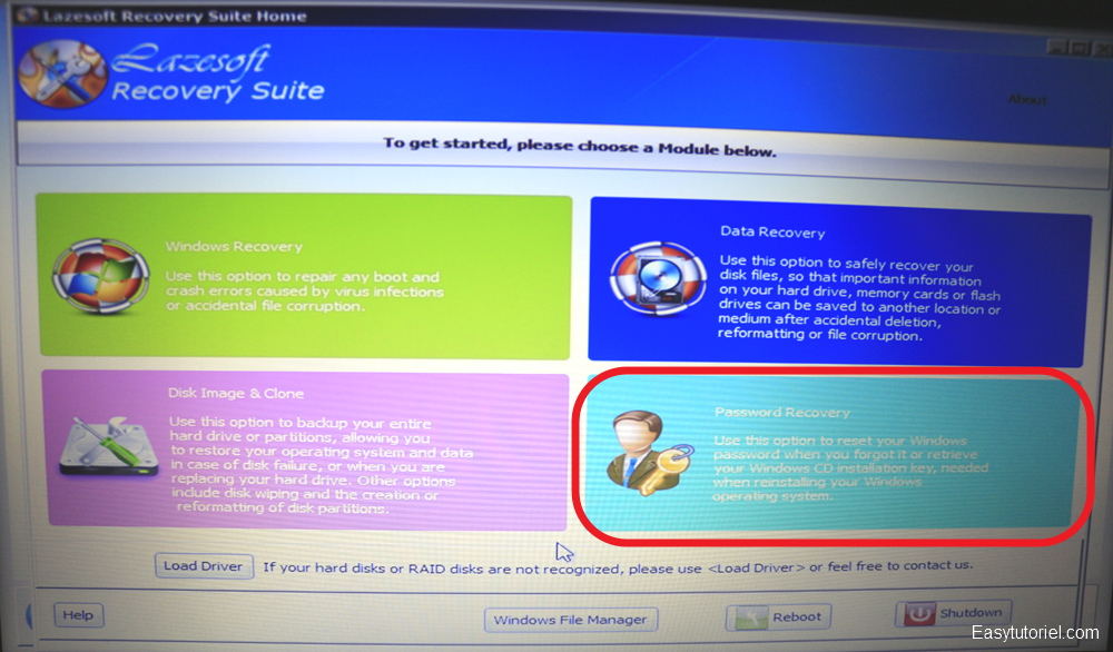 Réinitialiser son mot de passe Windows