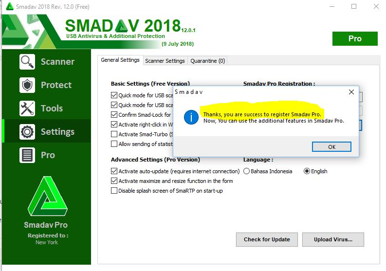 SMADAV PRO 2018 ACTIVATION