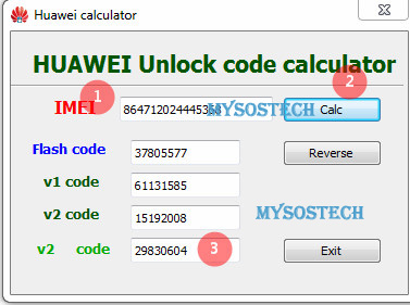Huawei code calculator v3 V4 offline ,New algo code generator
